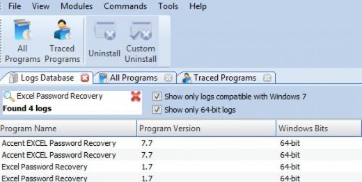 Find Excel Password Recovery in Logs Database List
