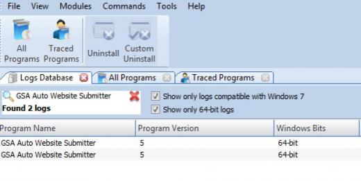 Find GSA Auto Website Submitter in Logs Database List