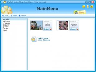 iPixSoft Video Slideshow Maker main screen