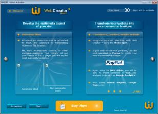 LMSOFT Web Creator Pro main screen