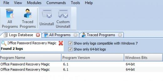 Find Office Password Recovery Magic in Logs Database List
