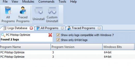 Find PC Pitstop Optimize in Logs Database List