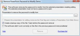 Remove PowerPoint Password to Modify main screen