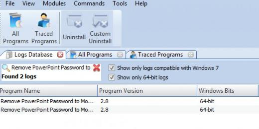 Find Remove PowerPoint Password to Modify in Logs Database List