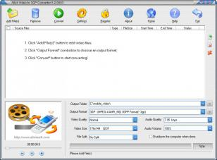Allok Video to 3GP Converter main screen