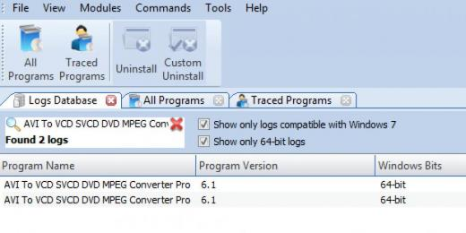 Find AVI To VCD SVCD DVD MPEG Converter Pro in Logs Database List