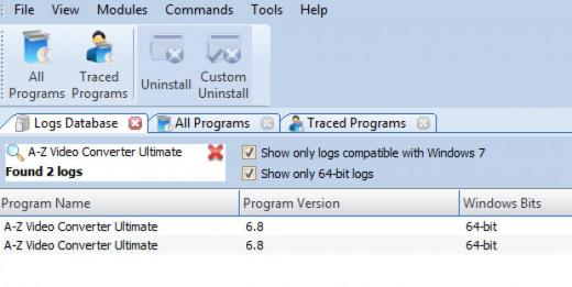 Find A-Z Video Converter Ultimate in Logs Database Lsit