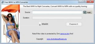 Free WMV to MP4 Converter main screen