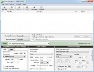 Pazera Free 3GP to AVI Converter main screen