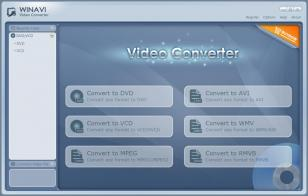 WinAVI Video Converter main screen