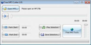 Free MP3 Cutter main screen