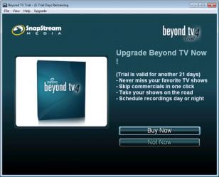 Beyond TV main screen