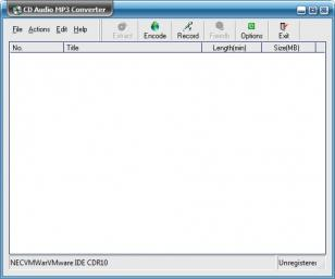 CD Audio MP3 Converter main screen