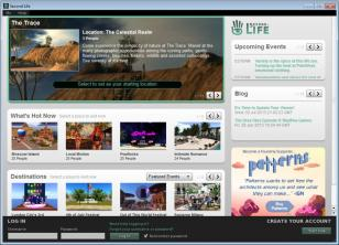 Second Life main screen