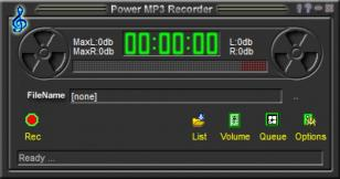 Power MP3 Recorder main screen