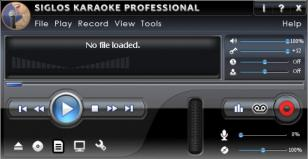 Siglos Karaoke Professional main screen