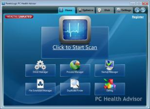 ParetoLogic PC Health Advisor main screen
