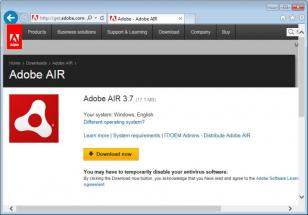 Adobe AIR screen