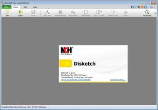 Disketch Disc Label Software main screen
