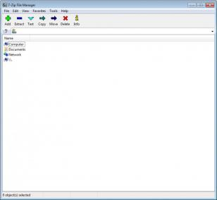 7-Zip main screen