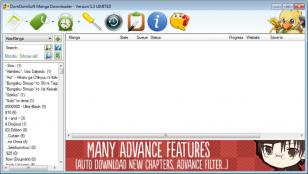 DomDomSoft Manga Downloader main screen