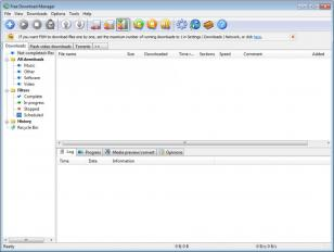 Free Download Manager main screen