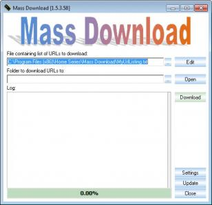 Mass Download main screen