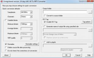 All To MP3 Converter main screen