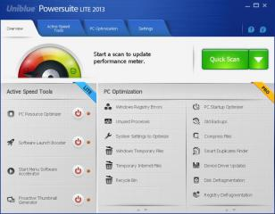 PowerSuite Lite 2013 main screen