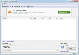 Free M4a to MP3 Converter main screen