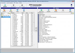 FTP commander main screen