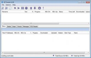 G3 Torrent main screen