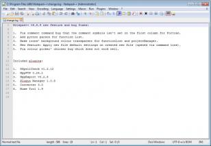 Notepad++ main screen