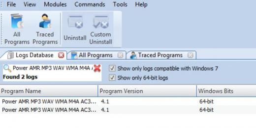 Find Power AMR MP3 WAV WMA M4A AC3 Audio Converter in Logs Database List
