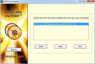 DVD Clone Factory main screen