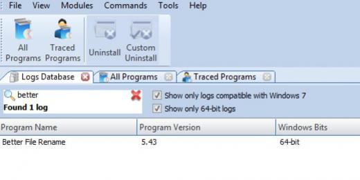 Find Better File Rename in Logs Database List