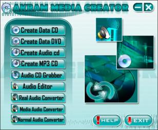 Akram Media Creator main screen
