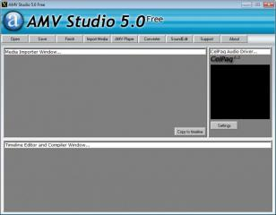 AMV Studio main screen