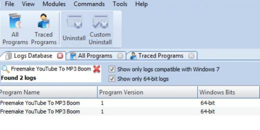 Find Freemake YouTube To MP3 Boom in Logs Database List