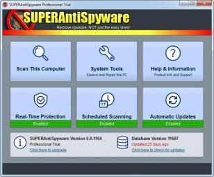 SUPERAntiSpyware Free main screen