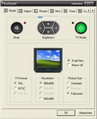 TVTool main screen