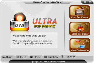 Ultra DVD Creator main screen