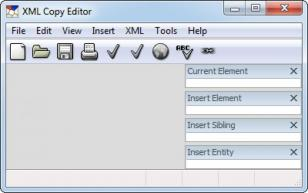 XML Copy Editor main screen