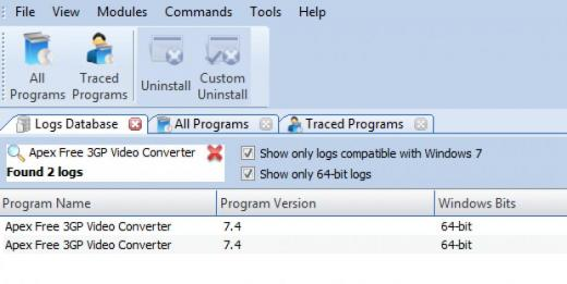 Find Apex Free 3GP Video Converter in Logs Database List