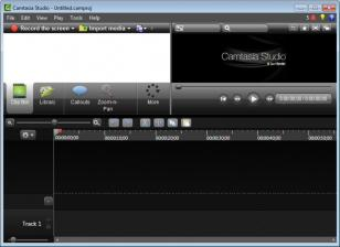 Camtasia Studio main screen