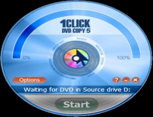 1Click DVD Copy main screen