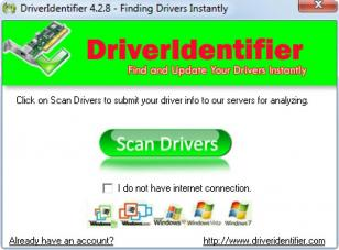 Driver Identifier main screen