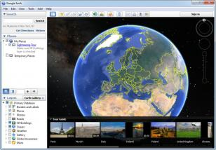Google Earth main screen