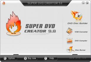 Super DVD Creator main screen