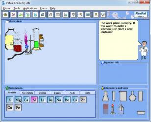 Virtual Chemistry Lab main screen
